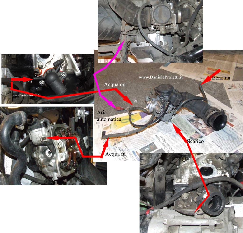 collegamenti carburatore